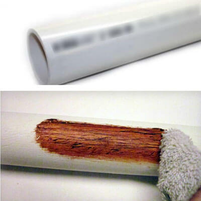 Making PVC Pipe Look Like Wood
