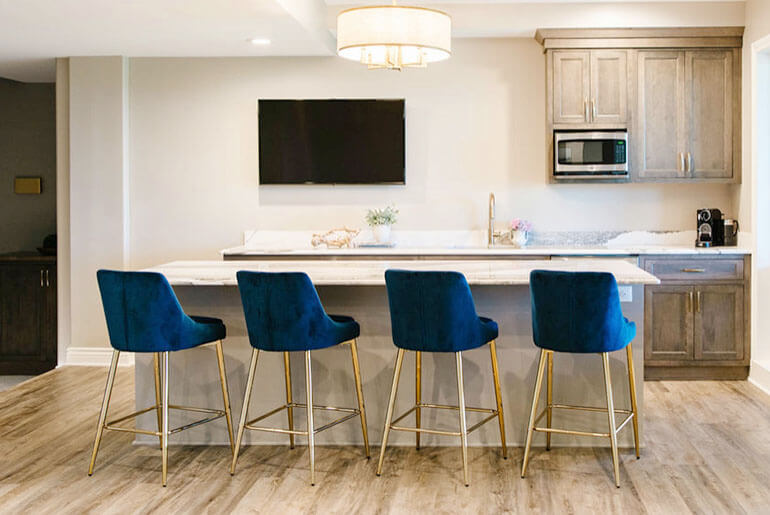 Bar stools are often 28 to 36 inches high