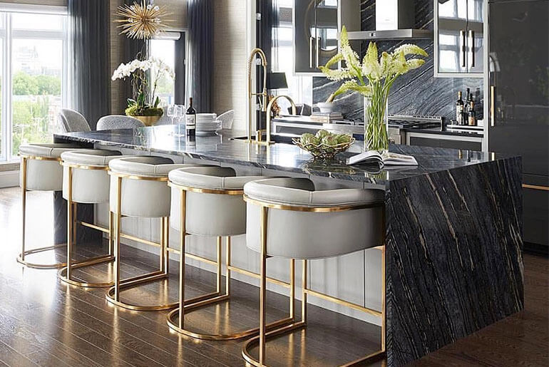 Counter stools should be available in your kitchen