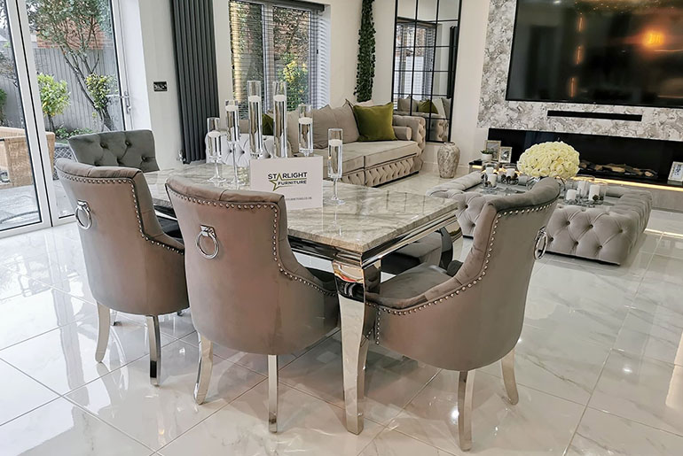 dining chairs in living room