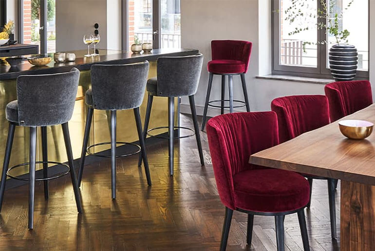 matching dining room chairs and barstools