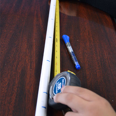 measuring pvc pipe