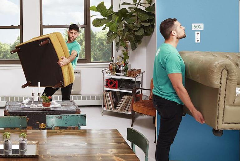 moving recliner through narrow door