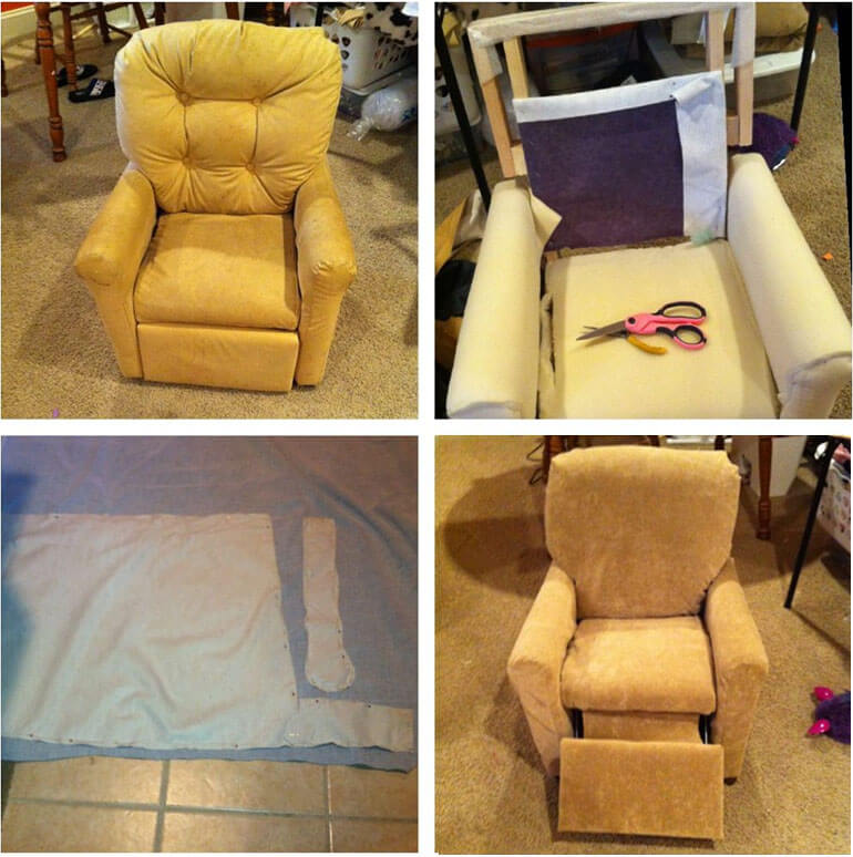 recliner reupholstery guide