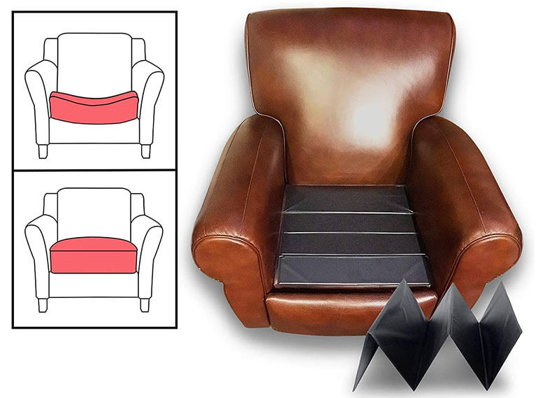reinforcesaggingrecliner with cushion support