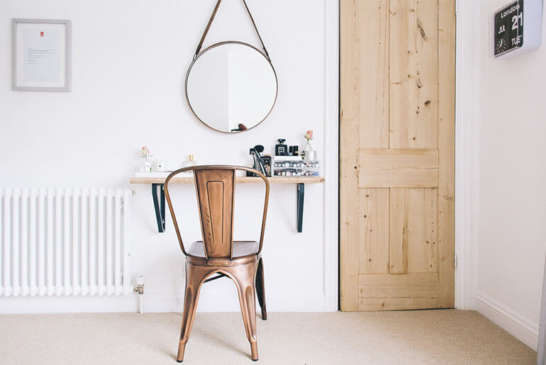 used as chair for dressing table