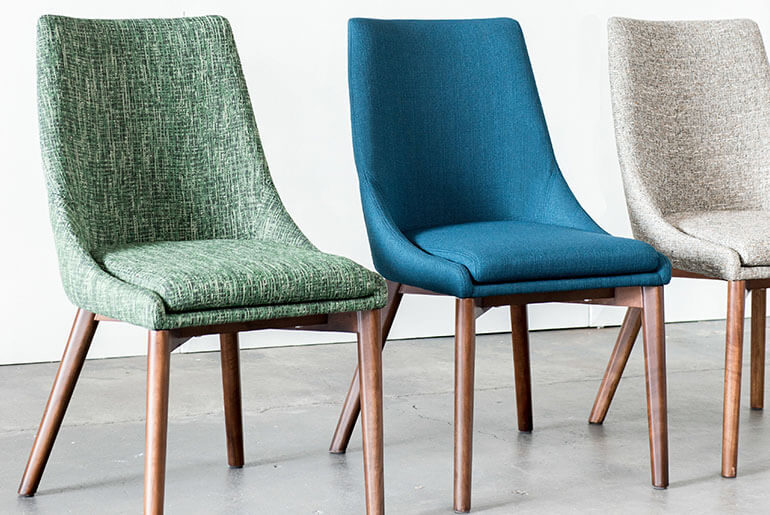 what kind of fabric for dining room chairs