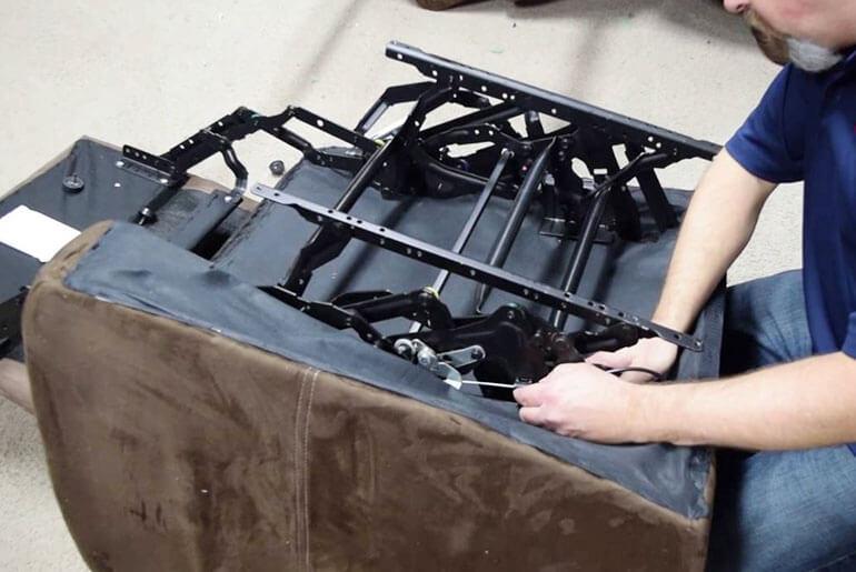 repairing recliner